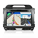 Android 8.1 Double Din Car Stereo For Kia Sportage 2010-2015 GPS Navigation In Dash DVD Player Head unit |8 Inch 2G+32G Octo Core| Support WIFI 4G Bluetooth Steering Wheel Free Backup Camera & Canbus