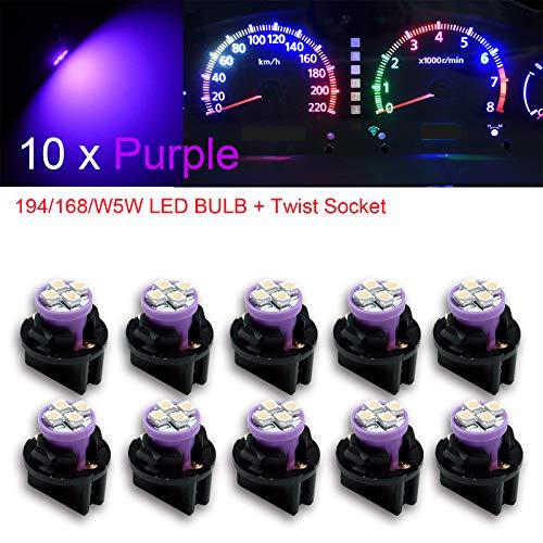 PA T10 Lot de 10 ampoules LED 12V 168 194