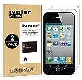ivoler [Pack de 2] Verre Trempé pour iPhone 4S / iPhone 4 [Garantie à Vie], Film Protection en Verre trempé écran Protecteur...