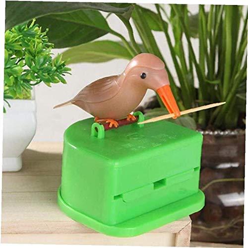 hwljxn Zahnstocher Halter Cartoon Vogel Zahnstocher Dispenser Koffer Haushalt Gadget (zufällige Farbe)