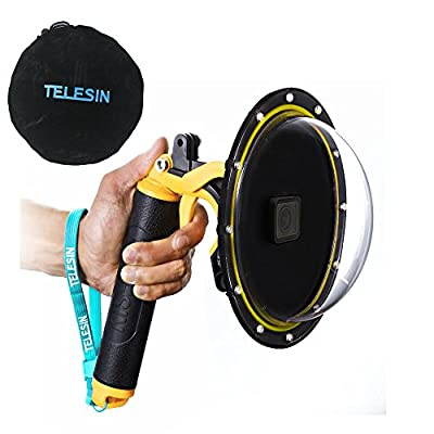 TELESIN Dome Port for GoPro Hero 9 Black, Underwater Dive Case Camera Lens Cover Protector with Waterproof Housing Case, Pistol Trigger, Floating Hand Grip and Anti-Fog Insert by TELESIN