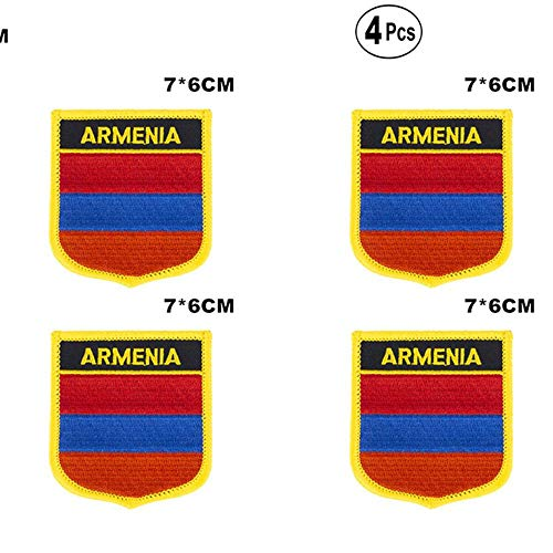 Armenië Shiled Shape vlag patches nationale vlag patches voor Cothing DIY Decoratie