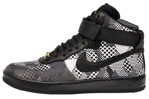 Nike AF1 ultra Force Bhm QS Hi top Trainers 717464 scarpe da tennis, Nero