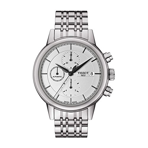 Tissot Herren Chronograph Automatik Uhr mit Edelstahl Armband T085.427.11.011.00
