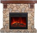 El Fuego Villach Elektrokamin mit täuschend echtem Flammeneffekt, 1600 W, 230 V