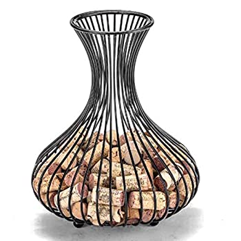 Galapara Wine Corks Container Corks Holder Storage Bottle Wine Cork Holder Wine Glass Cork Holder Home Decor Wine Rack Cork Storage Wine Cork Basket Rack Decorations - Bronze