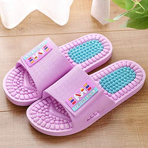 Unisex Adults Flip Flops Summer Men's Massage Slippers Non-Slip Deodorant Couple Sandals-Pink_40-41 Yards Indoor Outdoor Bath Sandal