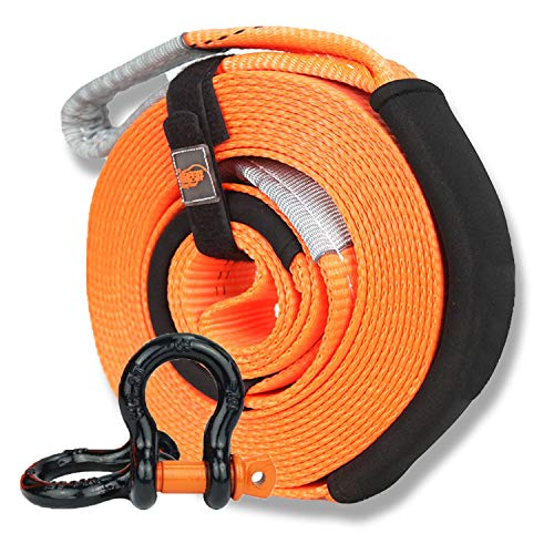Buy QDTD Automotive Ropes Tow Towing Ropes,Polyester Towing Strap,Heavy-Duty Towing Belt 4×4,with 2...
