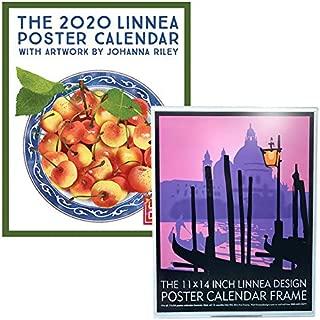 Linnea Design Poster Calendar Frame with 2020 Poster Calendar 11 x 14 Inches Art by Johanna Riley