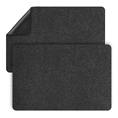 AIEVE Heat Resistant Mat for Air Fryer with Kitchen Appliance Sliders Function, 2 Pcs Kitchen Countertop Heat Protector Mats Compatible with Ninja Foodi Air Fryer, Coffee Maker, Blender, Stand Mixer