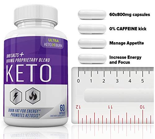 (5 Pack) Ultra Keto X Burn Shark Tank 800 mg, Ultra Keto X Burn Diet Pills Tablets Capsules, Pure Keto Fast Supplement for Energy, Focus - Exogenous Ketones for Men Women 3