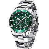 Relojes Hombre Relojes Grandes de Pulsera Militares Cronografo Diseñador Luminosos Impermeable Reloj Hombre de Acero Inoxidable Verde Analogicos Fecha