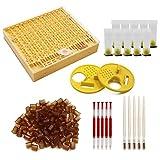 M.Z.A Set di strumenti per apicoltore 6 in 1, sistema di allevamento della regina Kit di innesto per apicoltura Coppette per cellule Porta dell'alveare Porta d'ingresso
