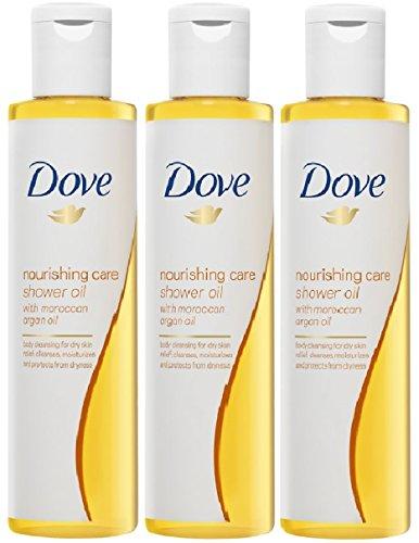 3x Dove Duschöl Pflege und Öl je 200 ml marokkanischem Arganöl für trockene Haut