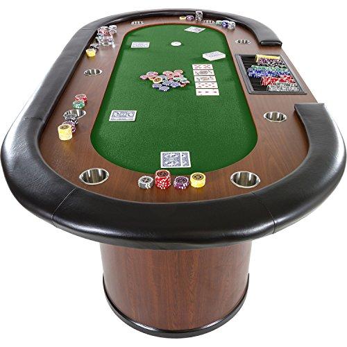 Maxstore Pokertisch ROYAL Flush, 213 x 106 x75 cm, Farbwahl, Gewicht 58kg, 9 Getränkehalter, gepolsterte Armauflage - 8