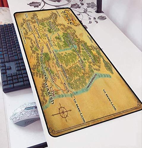 CFTGB Muismat Muur van de Ringen breed toetsenbord Muismat Gaming Cafe Mat uitgebreide muismat voor persoonlijke computer Mouse Pad