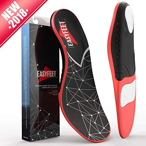 Plantar Fasciitis Arch Support Insoles for Men and Women Shoe Inserts - Orthotic Inserts - Flat Feet...