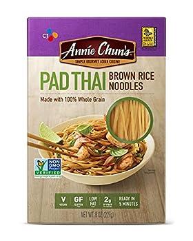 Annie Chun s Brown Rice Noodles Pad Thai | Vegan 8-oz  Pack of 6  | Gluten-Free Alternative to Linguine Pasta