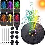 siqiwl Bomba de Fuente Solar Agua flotando con Luces LED Coloridas para baños de Aves Piscinas Piscinas Jardín Decoración de Patio Trasero (Color : Set A)