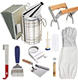 Beekeeping Supplies Tool Kit, Bee Hive Smoker Suit for Beekeeper Necessary 10 Pcs