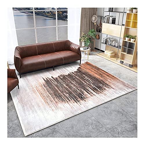 Blando Alfombras de cachemira de imitación, alfombra regional3.9'x6.6 ', estera de piso minimalista geométrico beige, interior adecuado, sala de estar, dormitorio ( Color : Style2 , tamaño : 4'x5.2' )