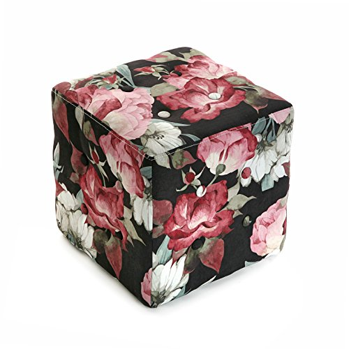 Mimma Versa 19880452 - Cube Tabouret Pink Flowers