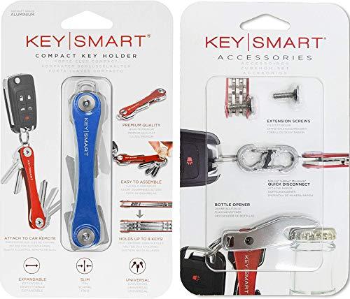 KeySmart – Kompakter Schlüsselhalter und Schlüsselanhänger-Organizer (mit Erweiterungspack, 14 Schlüsseln, Schnelltrennung und Flaschenöffner)