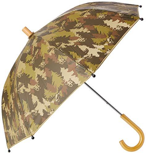 Hatley Jungen Printed Umbrellas Regenschirm, Waldtarn, One Size