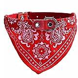 UEETEK Collar bandana para perros y gatos con bufanda de color rojo