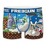 FREEGUN Talla 12/14: Boxer unitario Infantil Sonic The Hedgehog, Multicolor, Niños