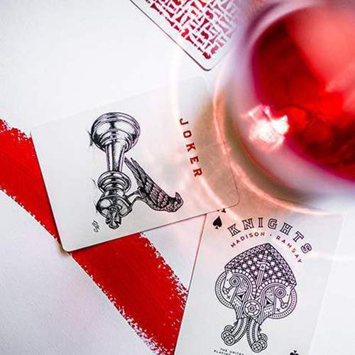 Mazzo di Carte Red Knights Playing Cards
