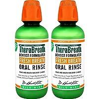 2-Pack TheraBreath 16Oz Fresh Breath Oral Rinse (Mild Mint)