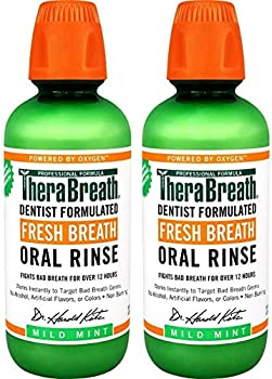 2-Pack TheraBreath 16Oz Fresh Breath Oral Rinse