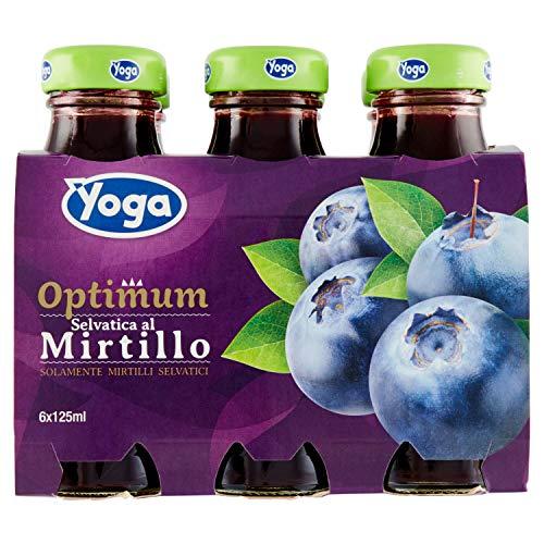 Yoga Optimum Succo Mirtillo, 6 x 125ml
