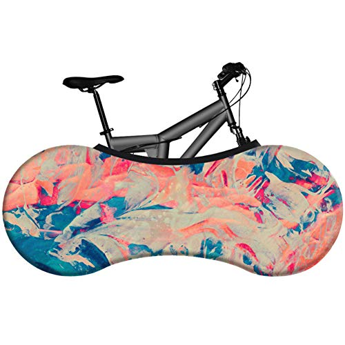 Bicycle Indoor Storage Cover,Road Mountain Bicycle Tire Tyre Cover Socks Practical Bike Dustproof Elastic Cover for Tires of 26-28 Inches,Best Solution To Keep Floors And Walls Dirt Free (16055CM),R