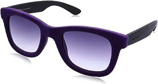 نظارة شمس بعدسات شبه مربعة ازرق وشنبر قطيفة مضلع للنساء من ايطاليا انديبندنت - ارجواني
