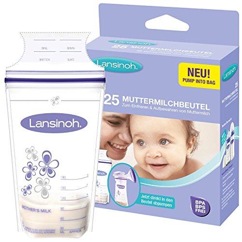 Lansinoh 99204 - Contenitori per latte materno, 25 pezzi