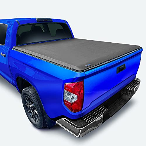 Tyger Auto T1 Soft Roll Up Truck Bed Tonneau Cover Compatible with 2014-2021 Toyota Tundra (Does Not Fit Trail Special Edition with Storage Boxes)   Fleetside 5.5' Bed   TG-BC1T9041 , Black