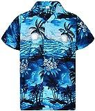 V.H.O. Funky Chemise Hawaiienne, Surf, Turquoise Foncé, L