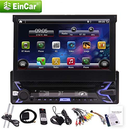 EINCAR Android Sistema 9.0 Pie operativo Standard DIN da 7 Pollici Touch Screen Capacitivo 1024 * 600p ad Alta risoluzione di 7 Colori LED di retroilluminazione 1.2G Quad moncone-Controllo Ruota