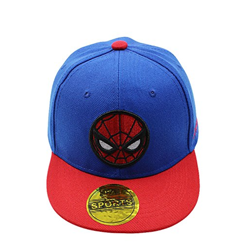 Product Image 2: Diluma Kids Spider Man Cartoon Falt Hat Snapback Baseball Cap (Blue)
