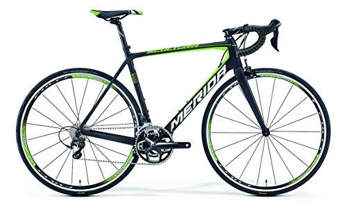 Merida Scultura 6000 - Bicicletta da corsa da 28 pollici, in carbonio, colore nero/verde (2016), 52 cm