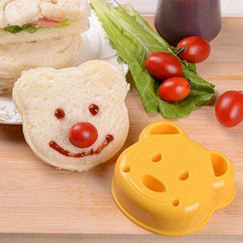 Kanzd Children Kids Bear Shaped Sandwich Crust Cutter Mould Stamp Lunch (A)