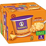 Annie's Real Aged Cheddar Macaroni & Cheese, Microwavable Mac & Cheese, 8 ct