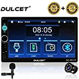 DULCET 240W Universal Fit Double Din 7 inch Full HD Capacitive Touch Screen