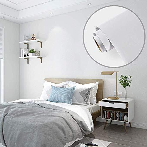 Papel Adhesivo para Mueble Blanco 40X300 cm PVC Material Adhesivo para Muebles Armario Decorativo Encimeras Mostradores de Bar Pegatinas de Renovación de Muebles