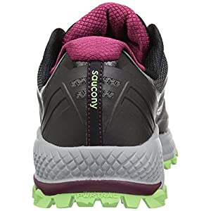 Saucony Women's Peregrine 8 Running Shoe, Black/Mint, 7.5 Medium US