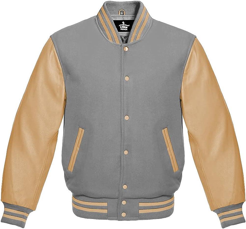 Varsity Jacket Max 78% OFF Baseball Letterman Bomber Regular discount School Lig Wool Premium