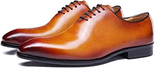 FELIX CHU Mens Genuine Leather Dress Shoes Oxfords Formal Wedding Lace up Italian Leather Shoes for