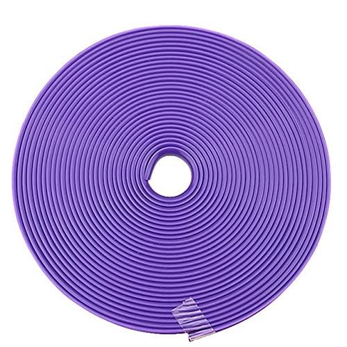 YMXDXTY 8M Rueda de automóvil Llantas Rading Cinta Protector de Ajuste en el Estilo de Estilo Moldura de Moldeado Decoración de la Tira Neumático Línea Moldeado Color Relantas (Color : Purple)